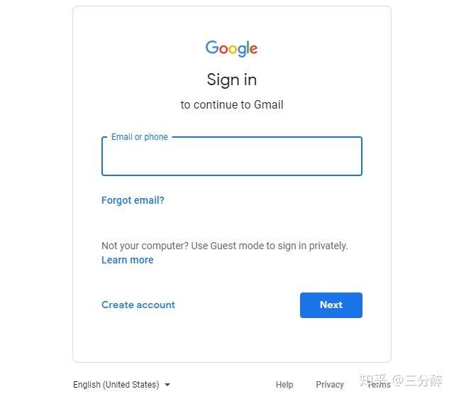 gmail登录页面